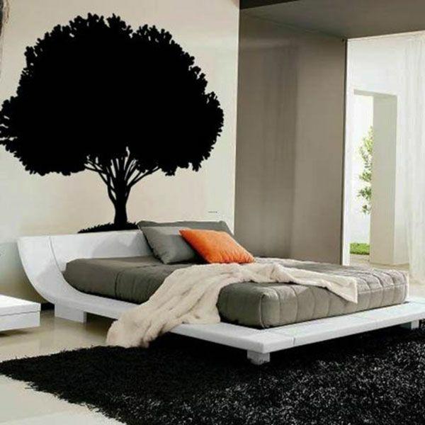 ideen für schlafzimmergestaltung wandtattoo
