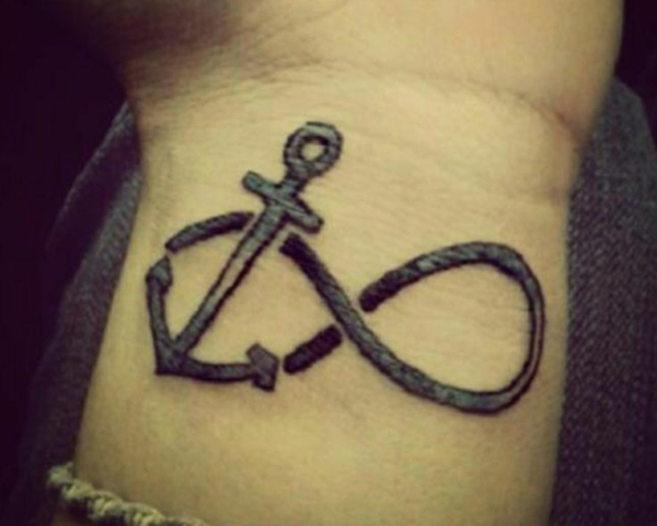 ideen für tattoo am handgelenk anker