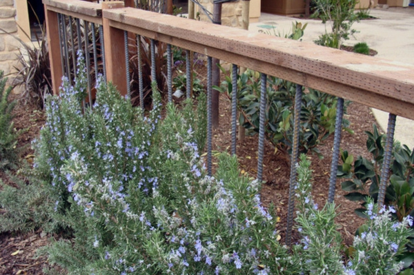 elementos de aço de design de jardim industrial