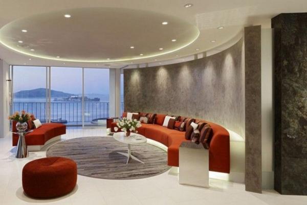 inneneinrichtung ideen wohnzimmer design runde gestaltung