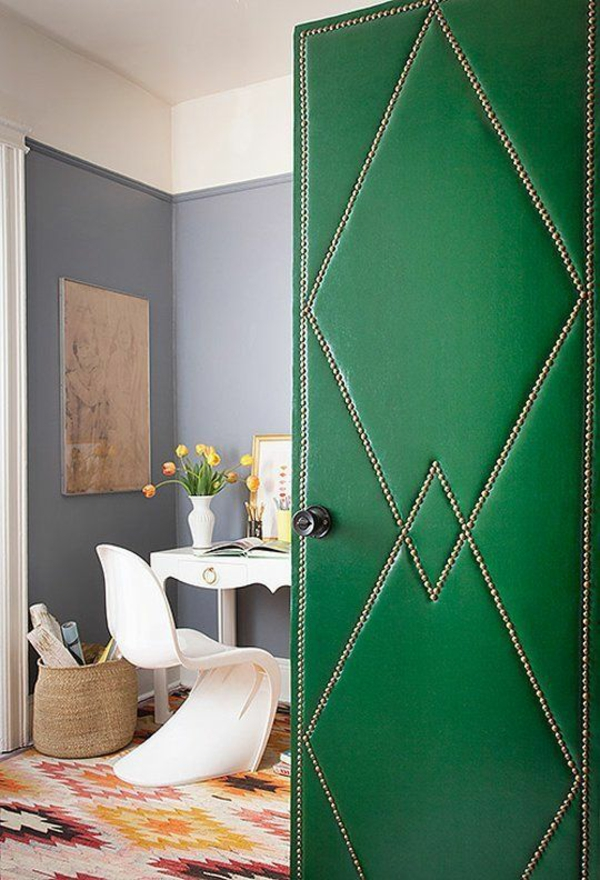 innentür günstig ideen dekorativ grün