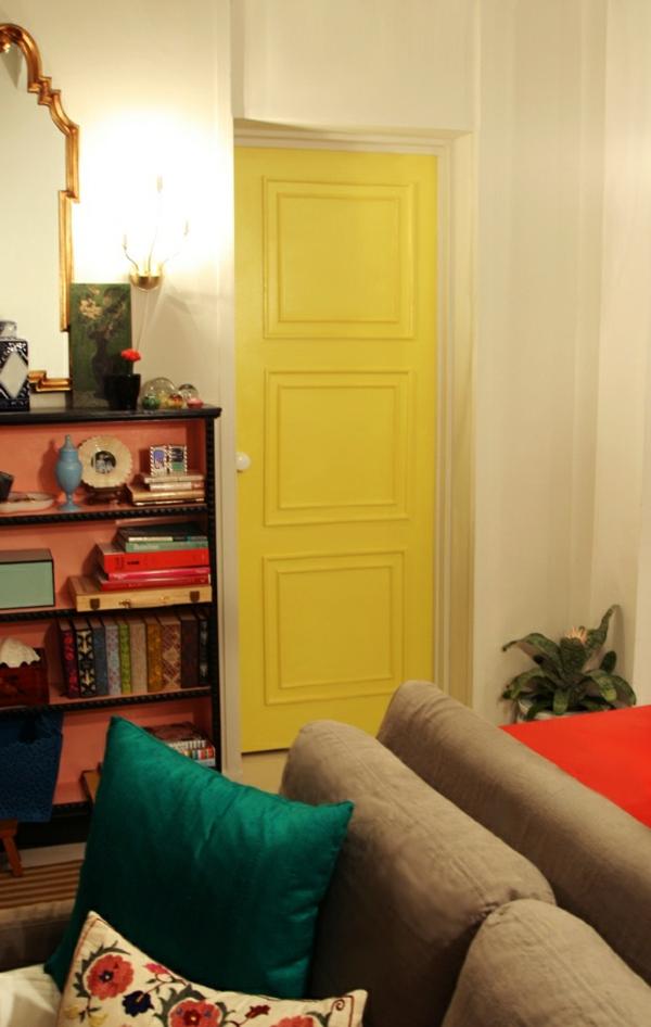 innentüren zimmertür günstig ideen gelb lackiert