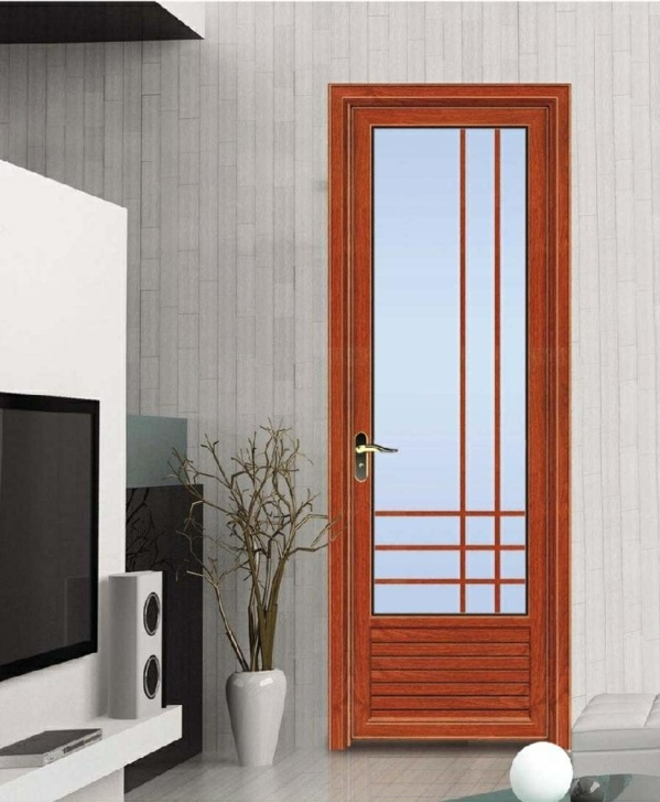 Puertas de aluminio para ba o modernas for Modelos de puertas de bano de madera