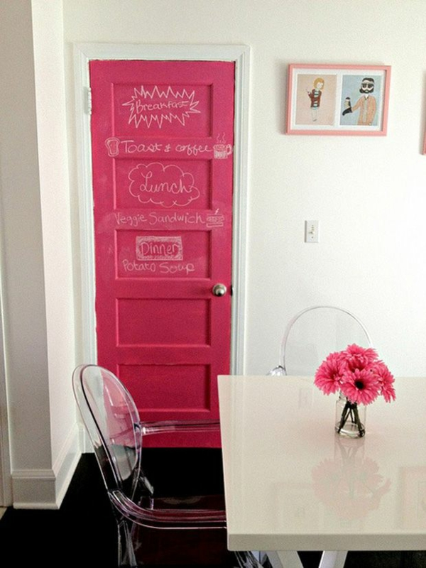 innentüren günstig ideen rosa leuchtend