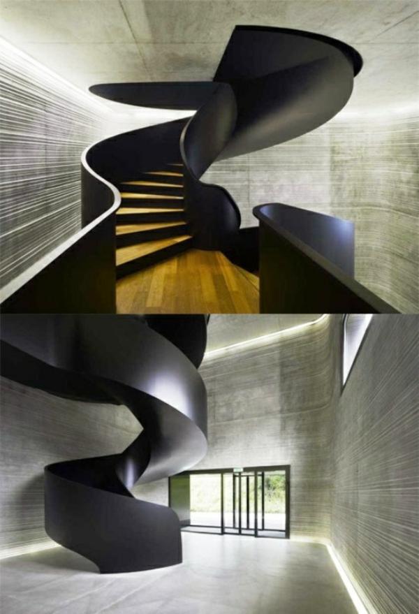 innovative art treppe schwarz trittstufen holz