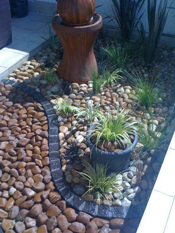Landscaping With Rocks And Bricks : Gartengestaltung mit steinen verk?rpert die ewigkeit