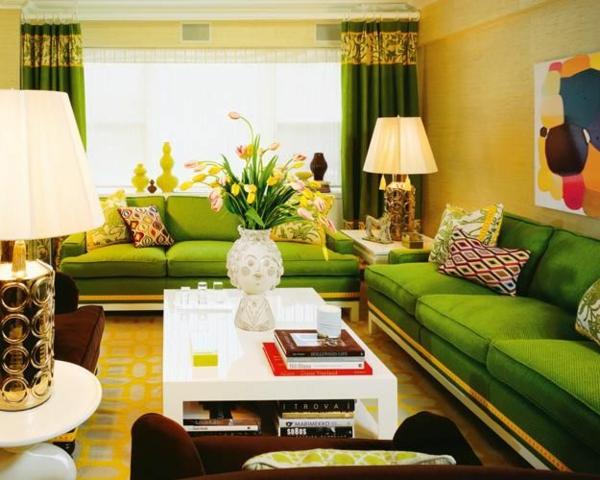 inspirierende ideen für inneneinrichtung wohnzimmer design grün