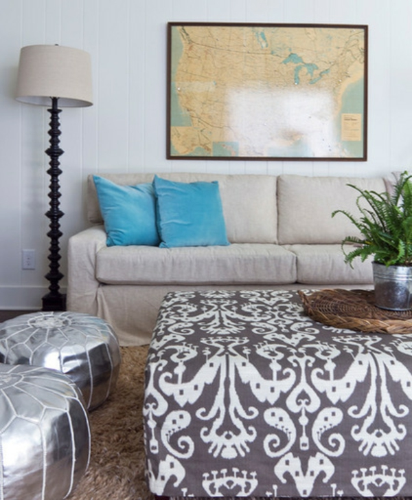 interior design ideen zeitgenössisches wohnzimmer dekoration