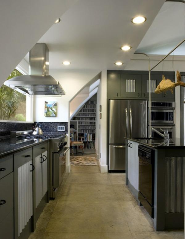 küche design ideen dekoration mit wellblech