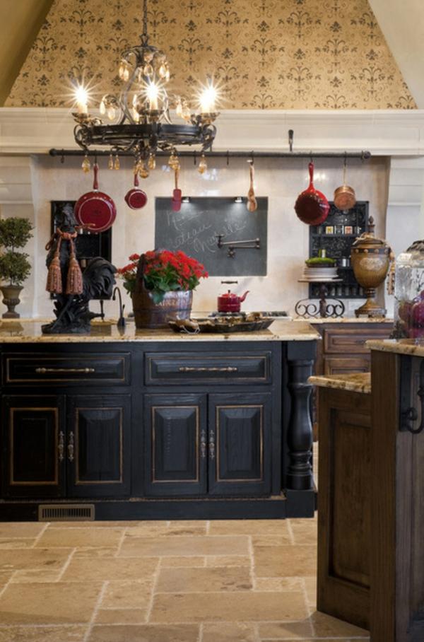 küche schwarze akzente wohnideen