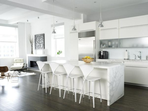 hochglanz kücheneinrichtung  Moderne weiße Küchen