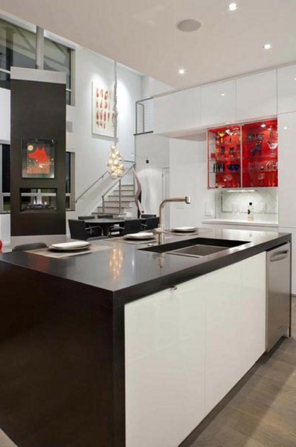 kücheneinrichtung spüle treppe gestaltung moderne Küchengestaltung Ideen