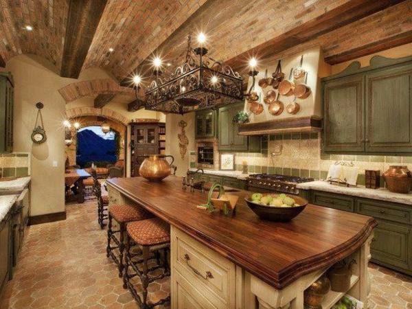 kücheninsel trendy kochen einrichten holz rustikal