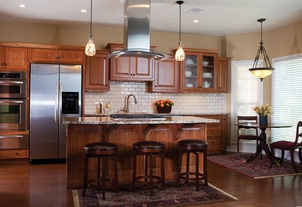küchenrückwand weiß deckenleuchten hocker kücheninsel