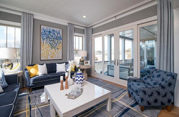 smarte anwendung von chevron mustern im wohnzimmer, Hause deko