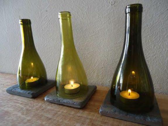 kerzenhalter ideen bastelideen für erwachsene glasflaschen teelichter