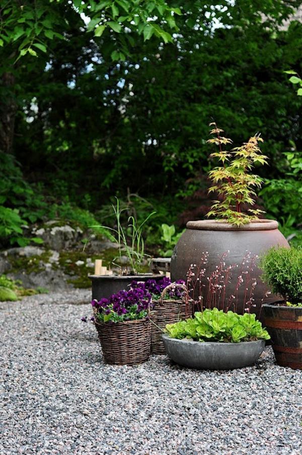 Gartengestaltung mit kies und steinen 25 gartenideen f r sie for Dekoartikel fur den garten