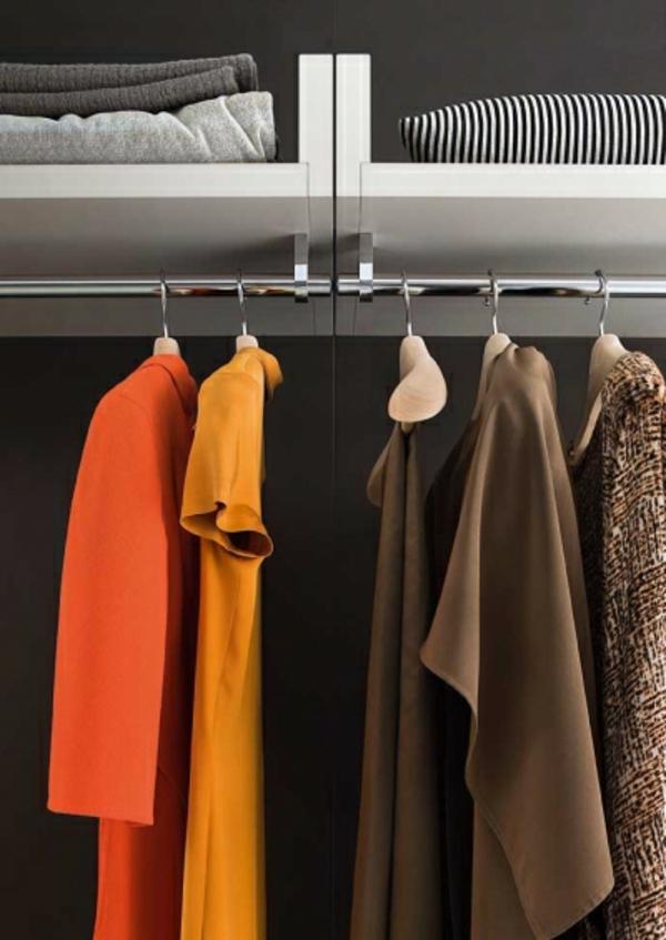 kleiderbügel schiene regale kleiderschrank begehbar