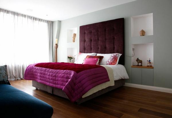 Schlafzimmerwand gestalten wanddeko hinter dem bett for Usa zimmer deko