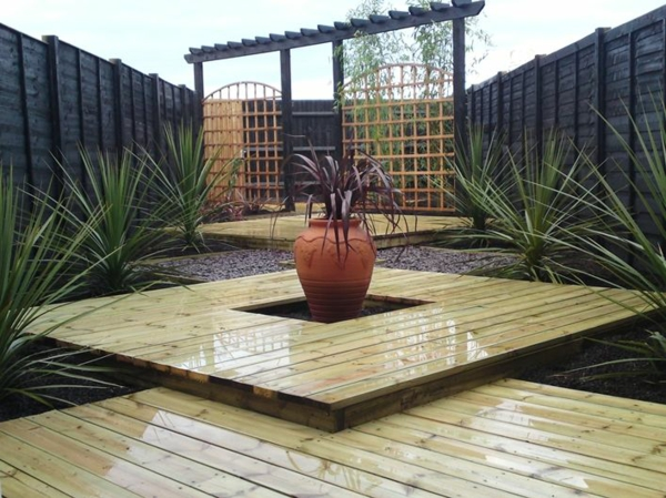 moderne gartenzäune schaffen sichtschutz im außenbereich, Hause und Garten