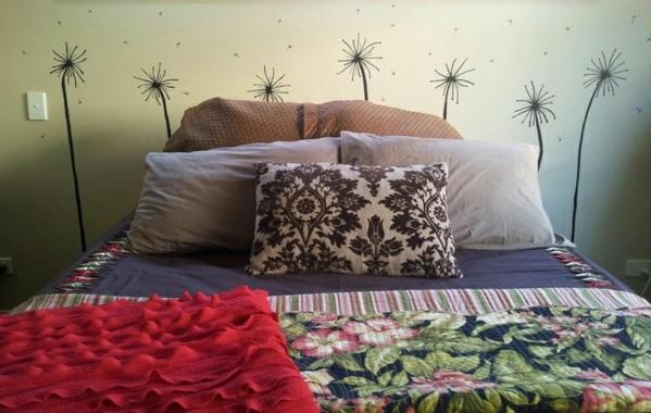 kopfteil fur das bett diy ideen. Black Bedroom Furniture Sets. Home Design Ideas