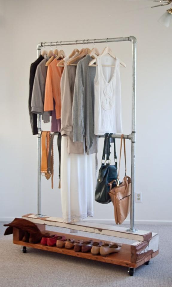 kreative bastelideen kleiderständer selber bauen röhren