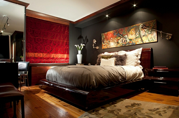 Good Beautiful Schlafzimmer Dunkle Farben Photos Simology Us ...