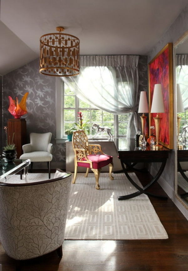 einrichtung wohnzimmer kronleuchter klassisch