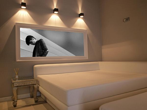 kunstvoll wandlampen wanddeko schlafzimmer minimalistisch einrichten