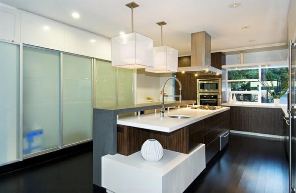 lampenschirme weiß Pendelleuchten im Esszimmer kücheninsel