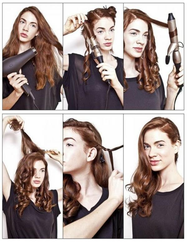 langhaarfrisuren frisuren für lockiges haar locken stylen mit lockenstab