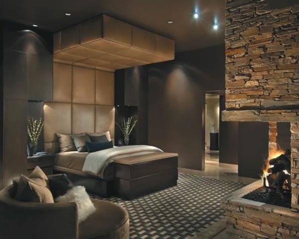 Urban taupe woonkamer : Leder dekoration schlafzimmergestaltung ideen ...