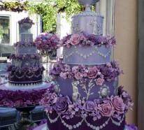 Lila Hochzeitstorte Ideen – Trends 2014