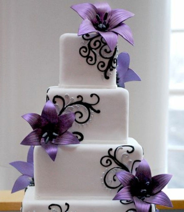 Hochzeitstorte Lila Lila Hochzeitstorte Ideen Violette Www