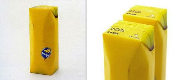 lustige verpackungen bananensaft