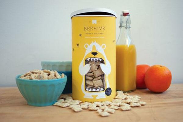 lustige verpackungen frühstück