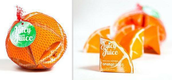 lustige verpackungen orange