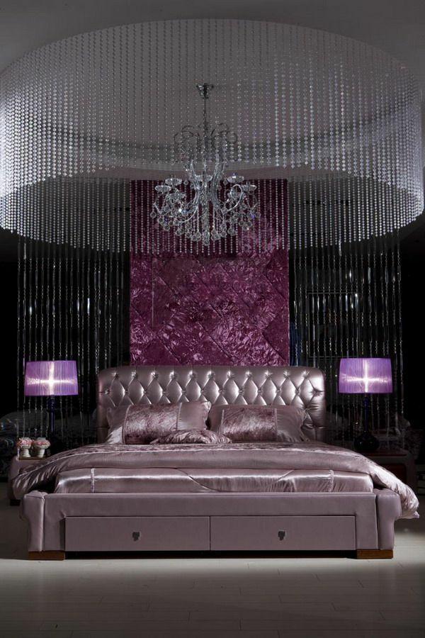 luxuriöse ideen für schlafzimmer prachtvoller kronleuchter möbel