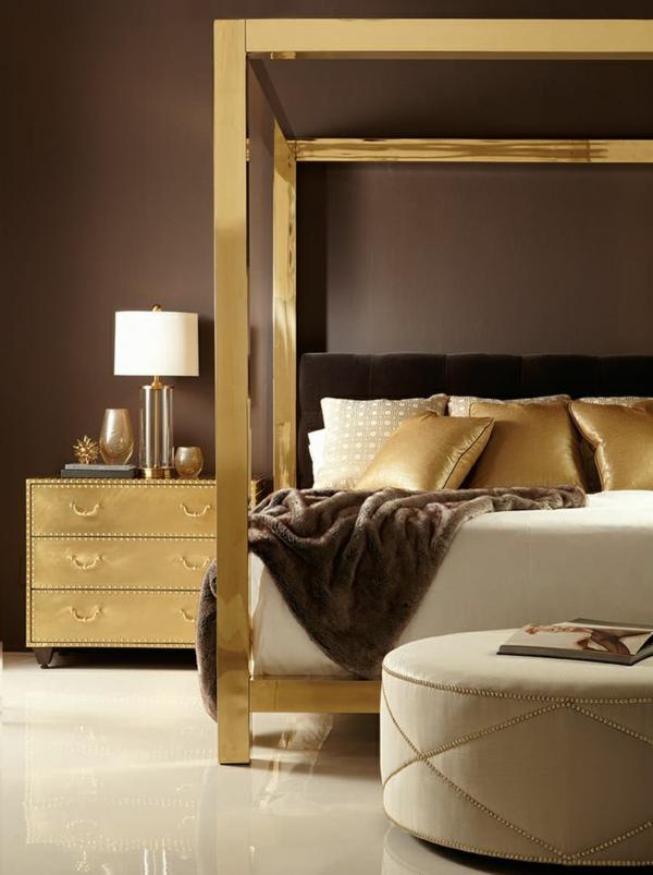 Luxuriöses Schlafzimmer Gold Akzente Nachttisch Dekokissen 40 Reizende  Schlafzimmergestaltung Ideen | Einrichtungsideen ...