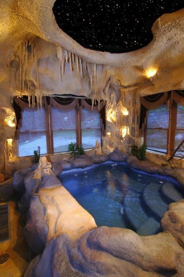 luxus badezimmergestaltung höhle imitation