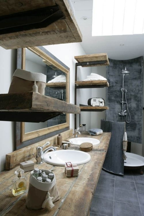 männliches rustikales badezimmer design badmöbel