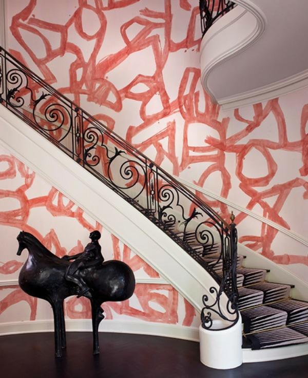 märchenhafte treppenteppiche zebra muster skulptur