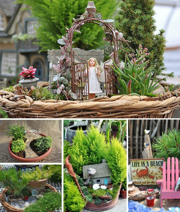 märchenhafter miniatur garten dekoration