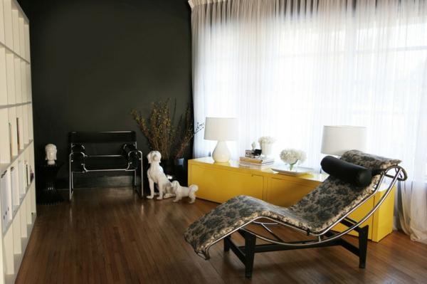 möbel farbgestaltung ideen wandfarbe gelb designer möbel anrichte modern
