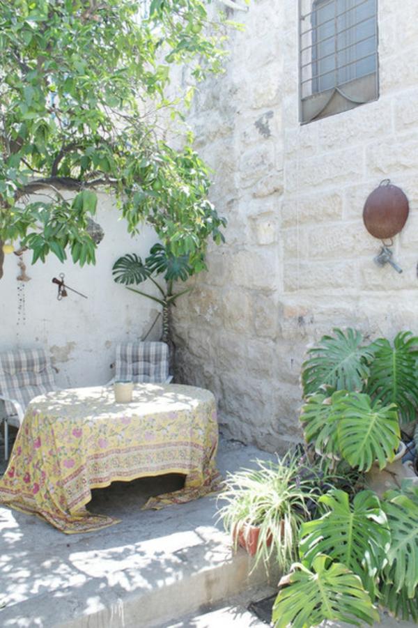 meditteran patio gartengestaltung ideen tisch