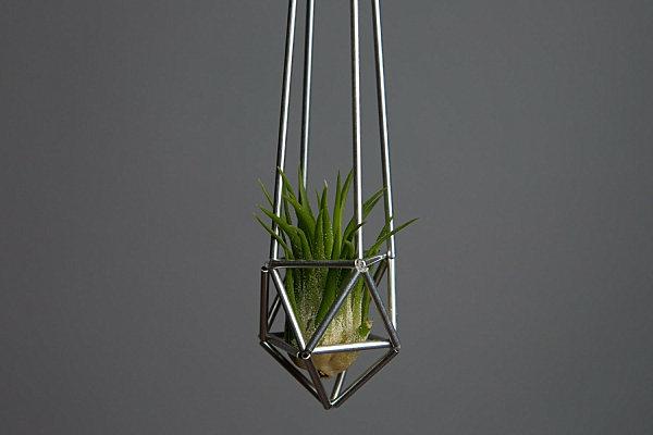 metallisch geometrisch blumentöpfe pflanzgefäße dreiecken