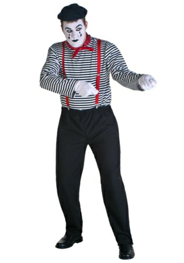 mime kostüme fasching ideen
