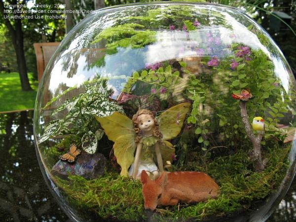 mini garten gestaltungsideen terrarium glaskugel