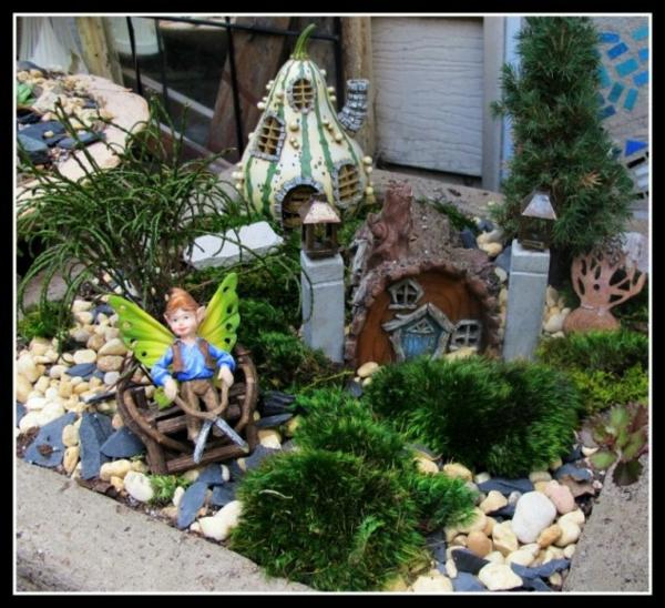 mini garten im märchenhaus figuren