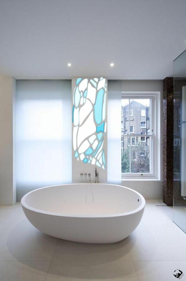 Ideen Badeinrichtung Freistehende Badewanne Design Weiß ...